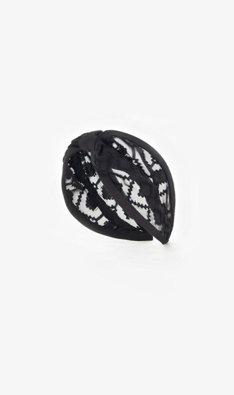 Black diamond mesh headband
