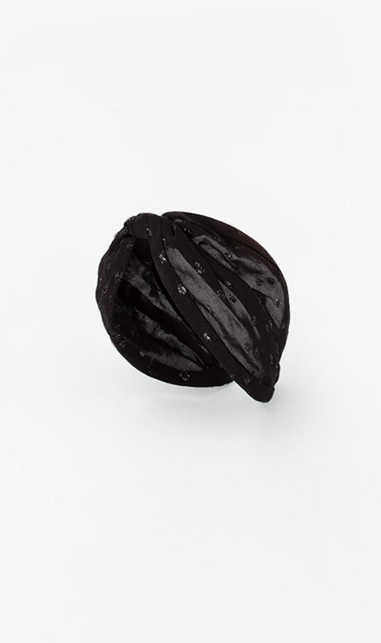 Black onyx dot headband