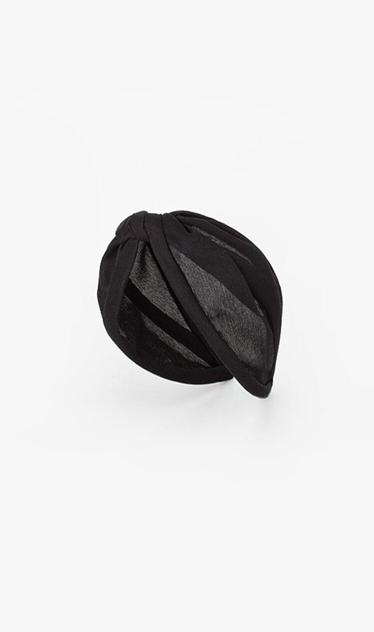 Black jersey mesh headband