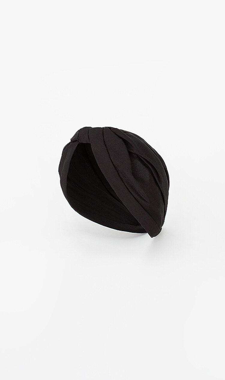 Black linen headband