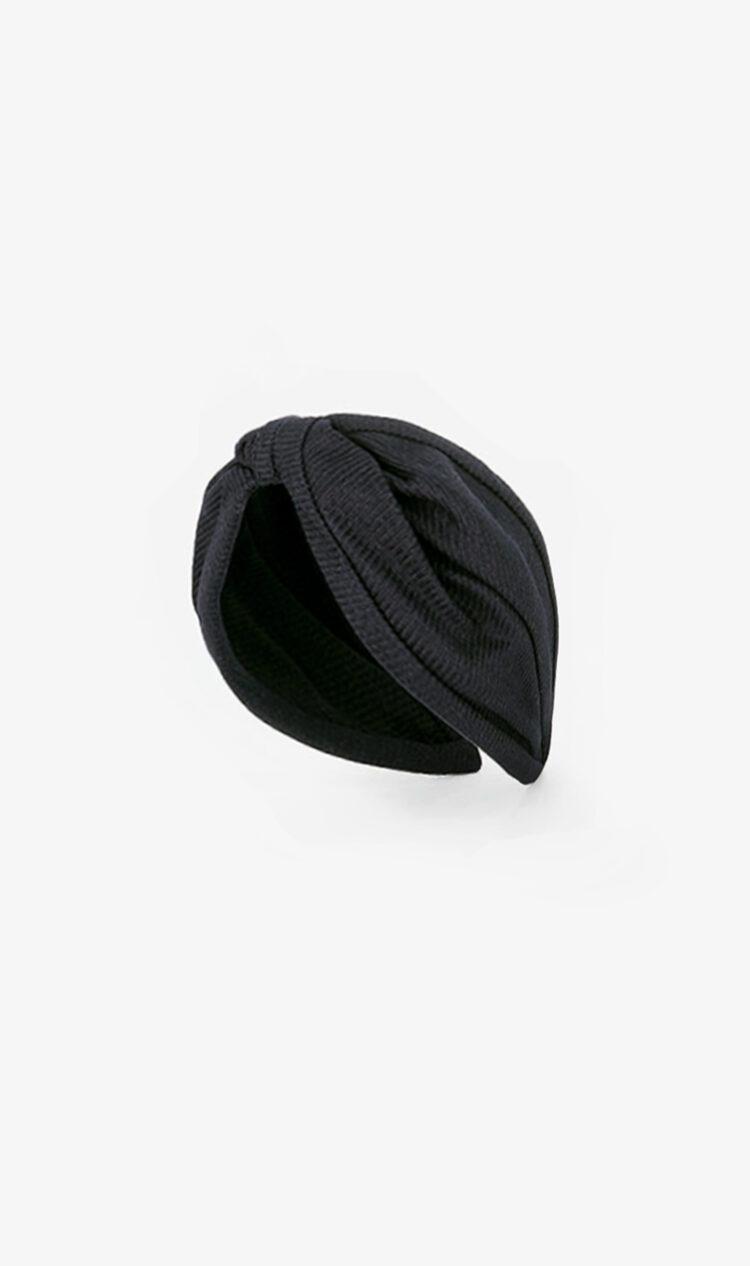 Black textured stripe headband