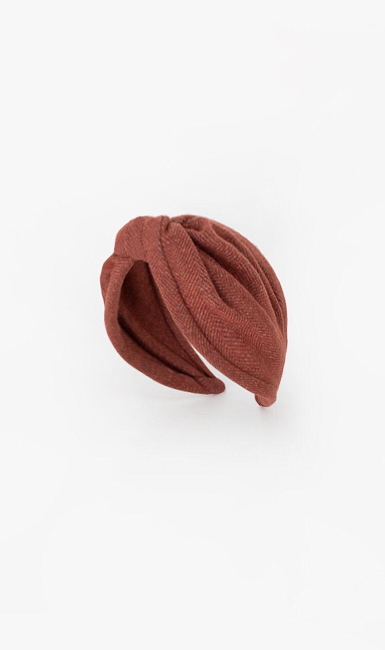 Brick herringbone headband