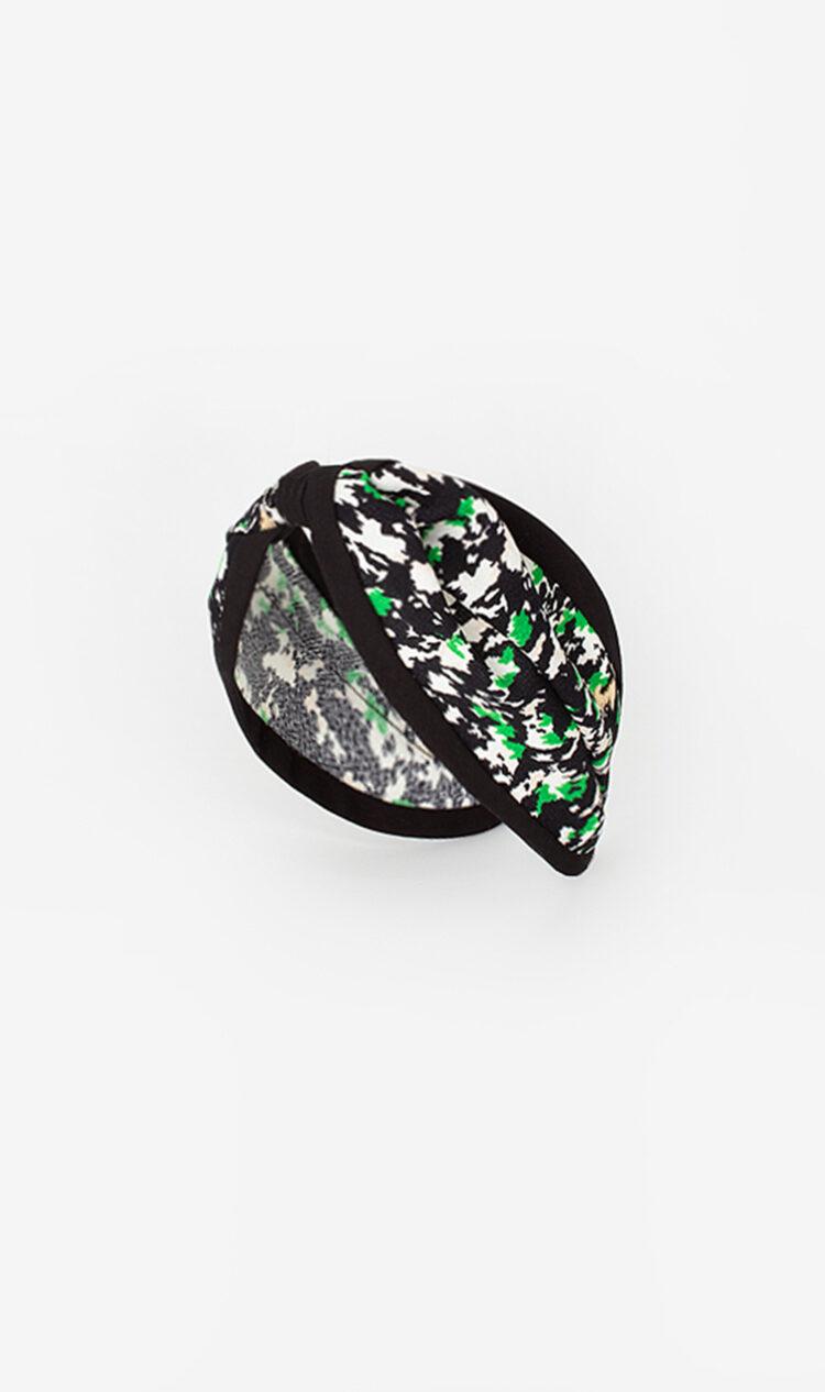 Green abstract piped headband