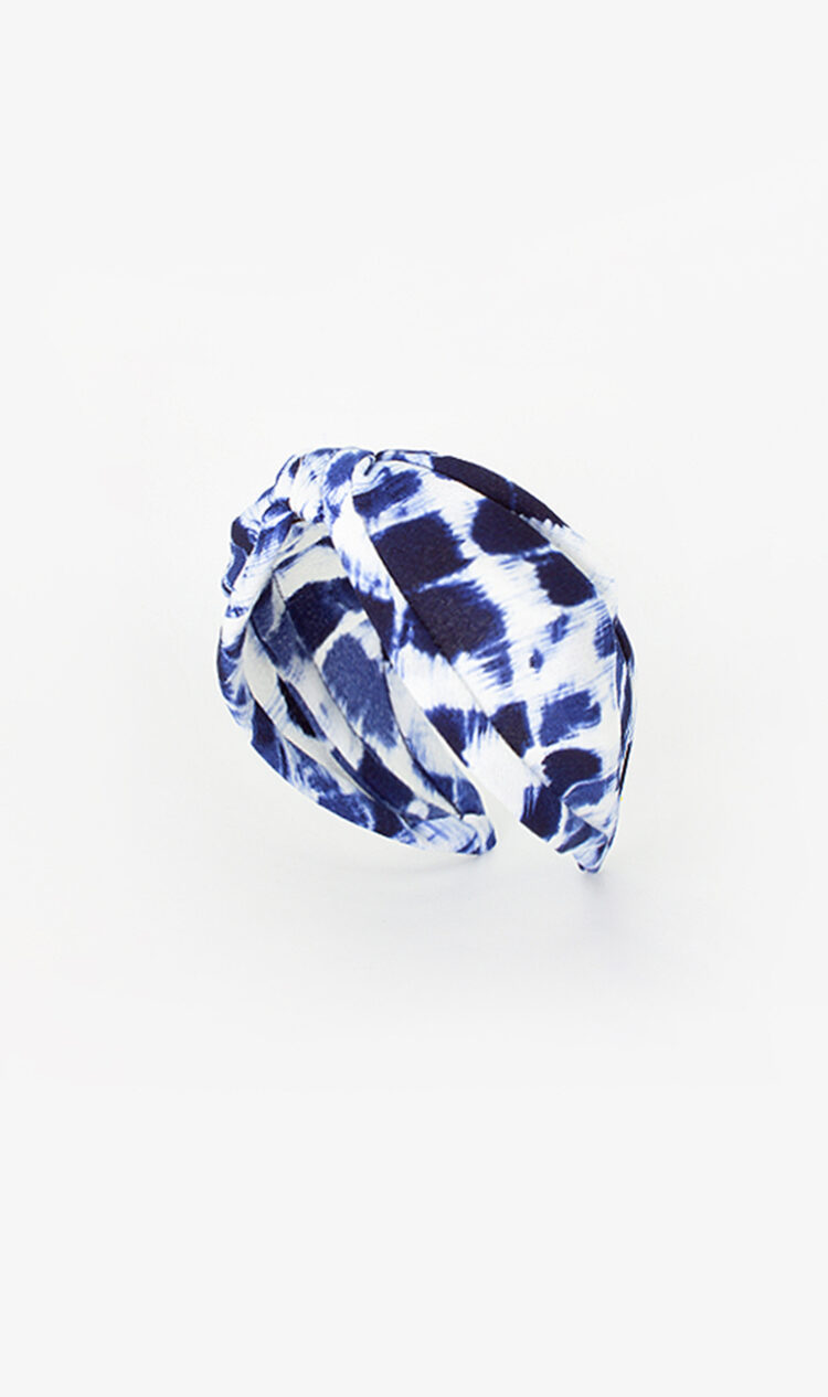 Navy tie-dye headband