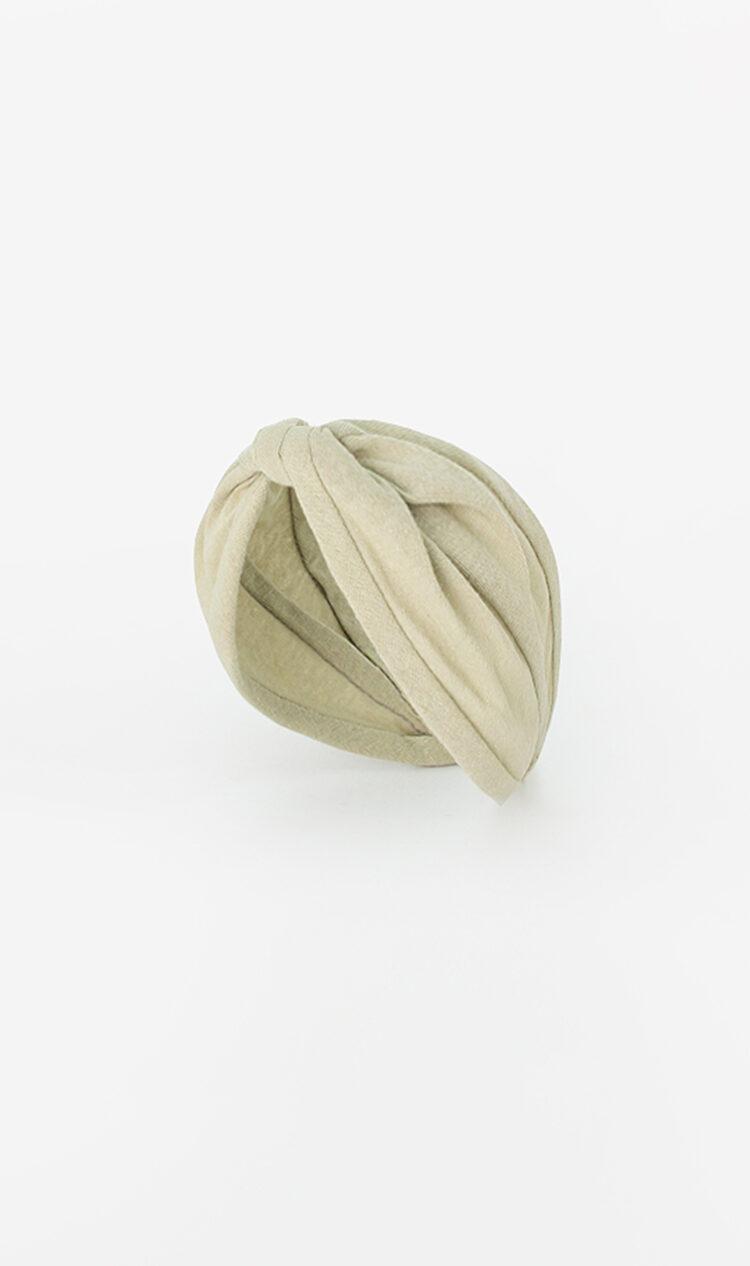 Pale pistachio jersey headband