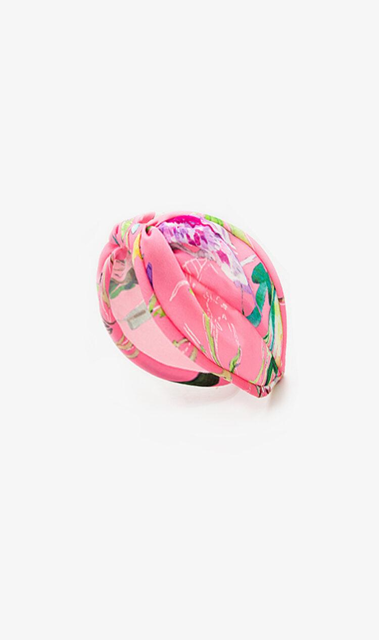 Pink fluorescent chiffon headband