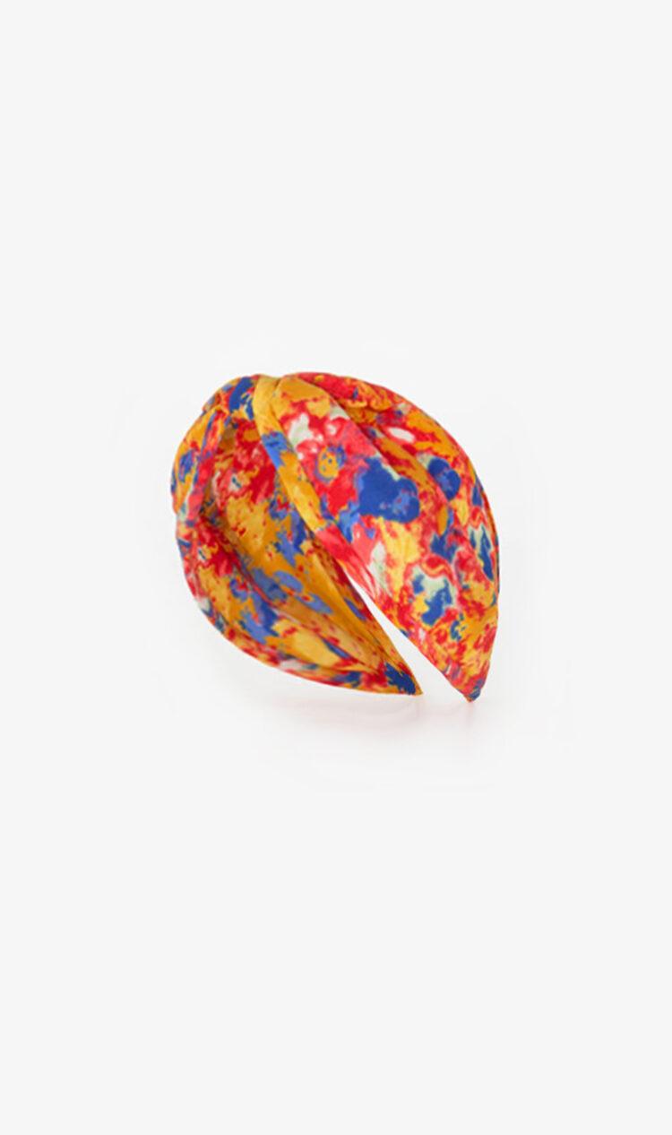 Red watercolour headband