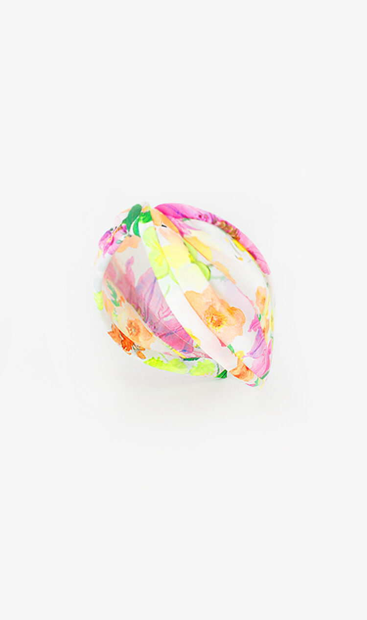 Vibrant floral headband