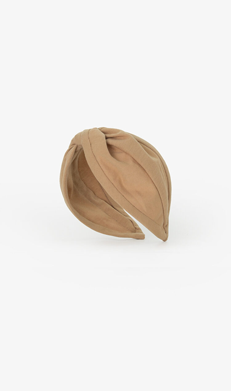 Warm beige jersey headband