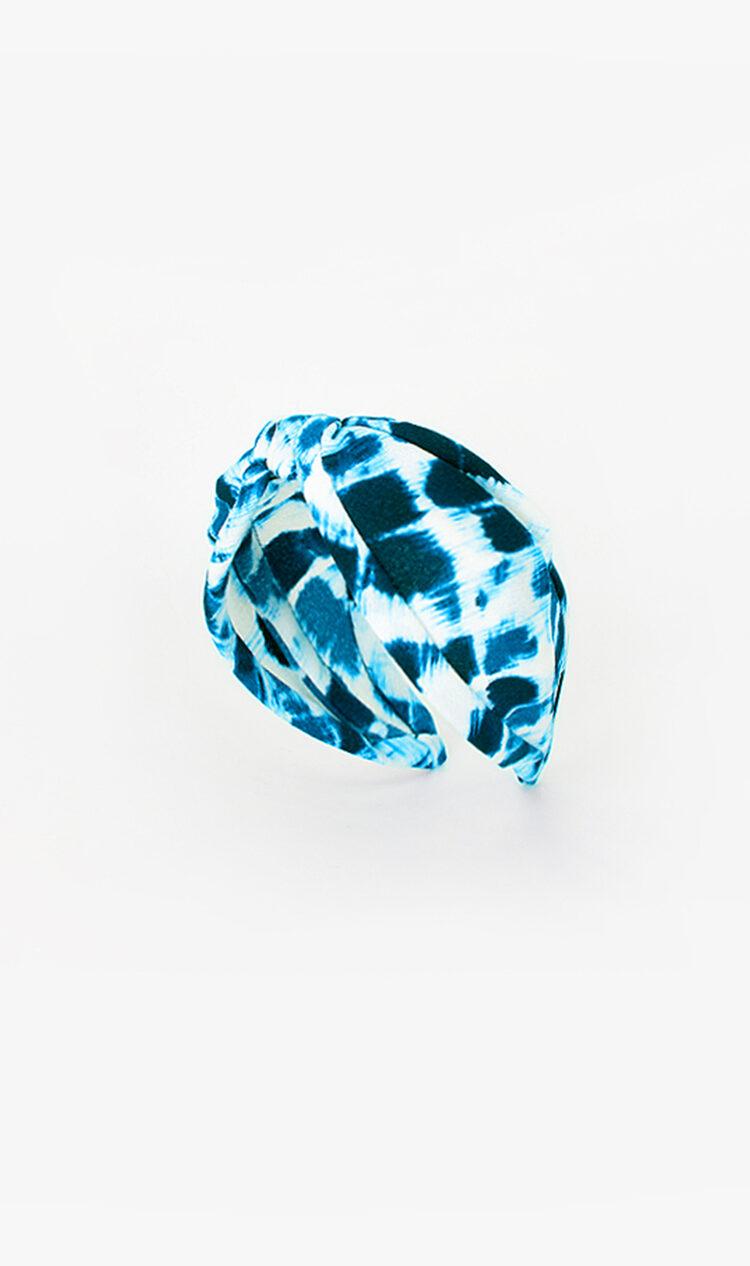 Aqua tie-dye headband