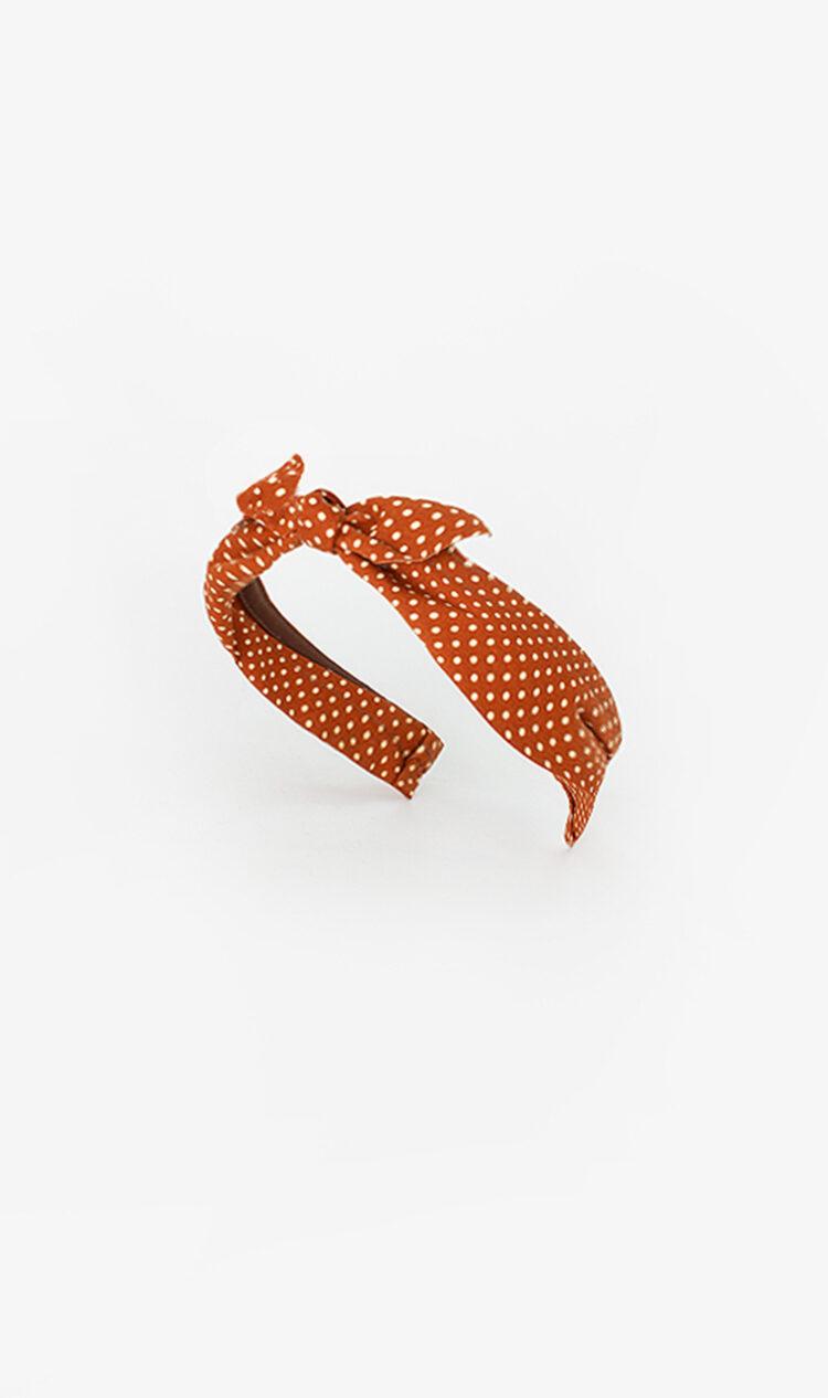 Cinnamon dot bunny knot headband