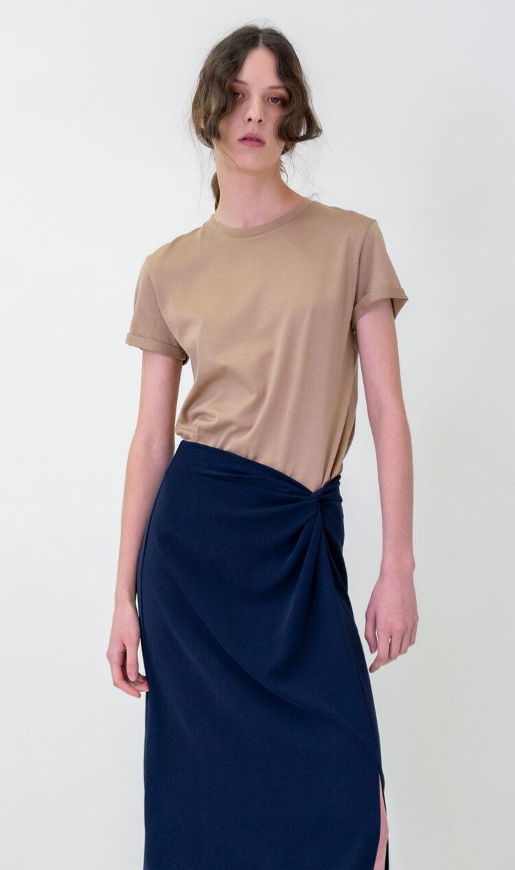 Beige cotton t-shirt