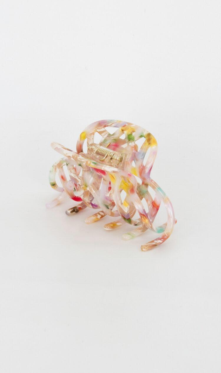 Confetti lattice hair claw