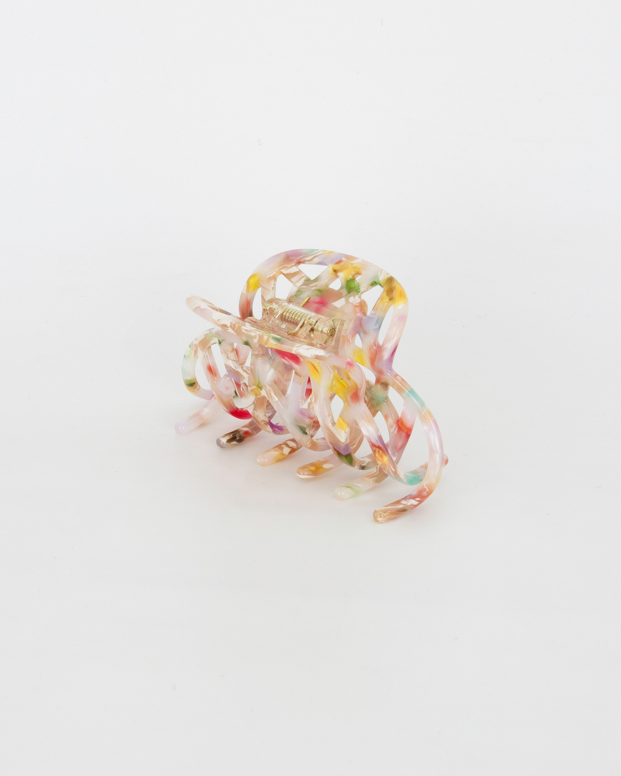 Emin + Paul confetti lattice hair claw.