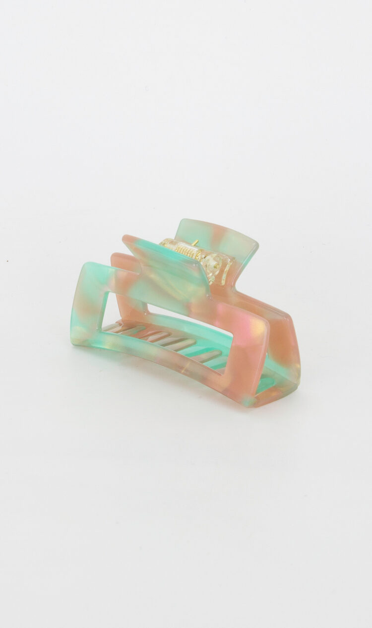 Coral-reef square hair claw