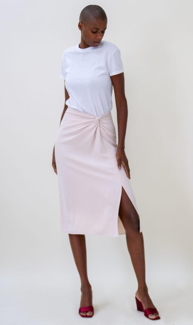 Cream knot skirt