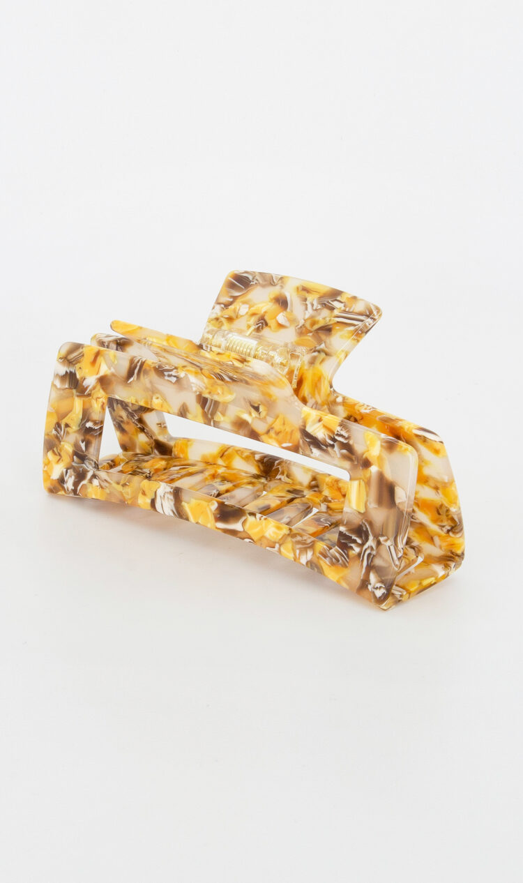 Honeycomb chunky square hair claw