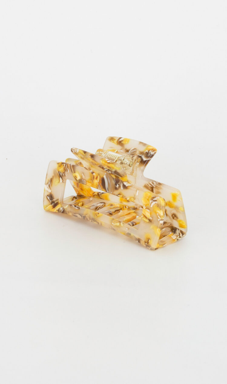 Honeycomb square hair claw