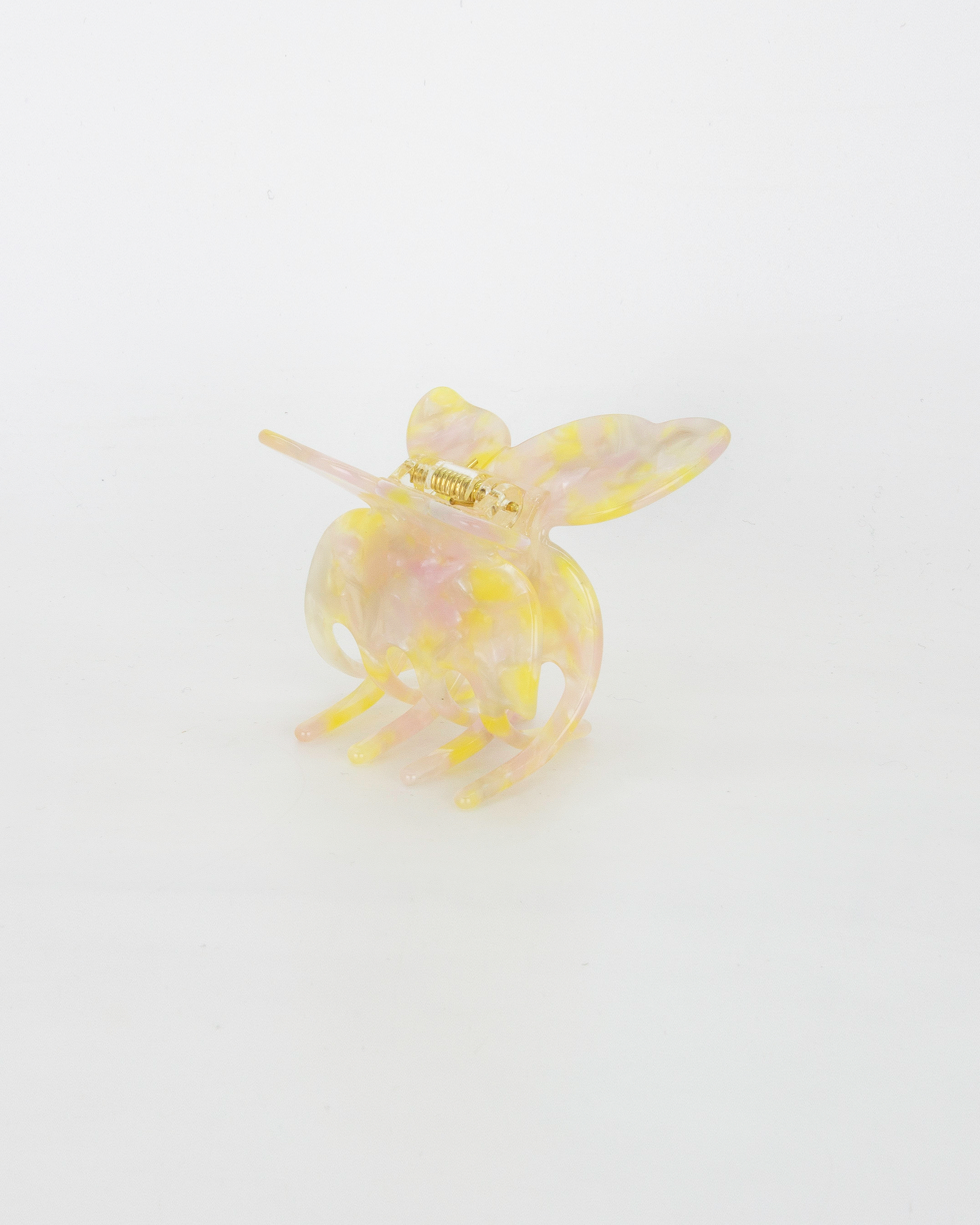 Emin + Paul lemon blush butterfly hair claw.