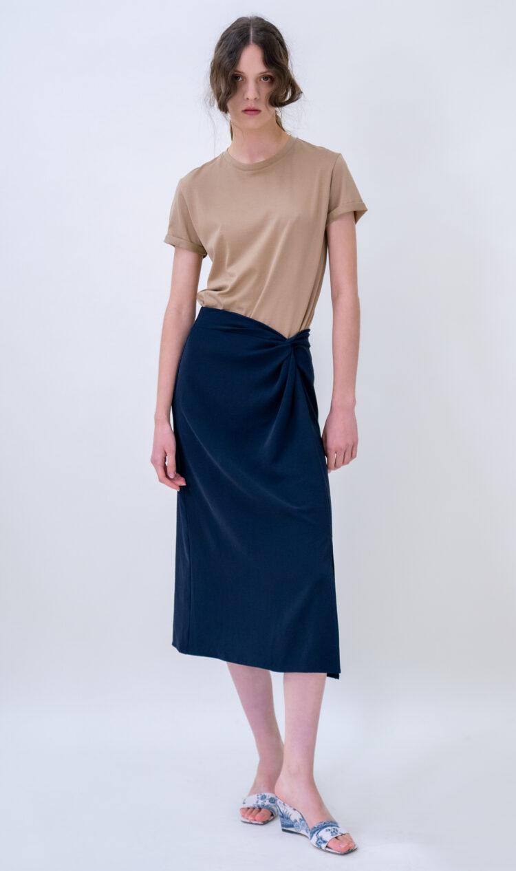 Navy knot skirt