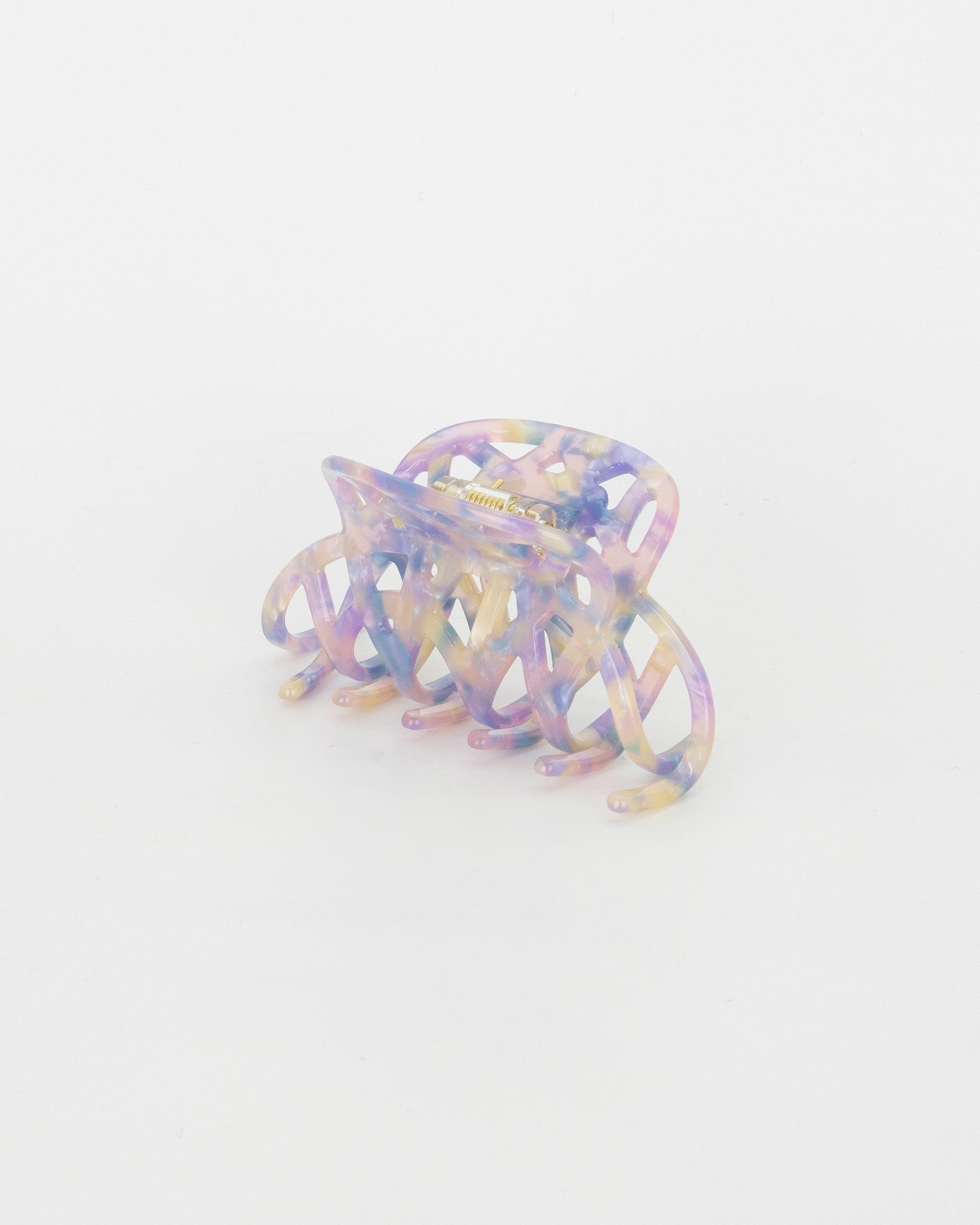 Emin + Paul parma violet lattice hair claw.