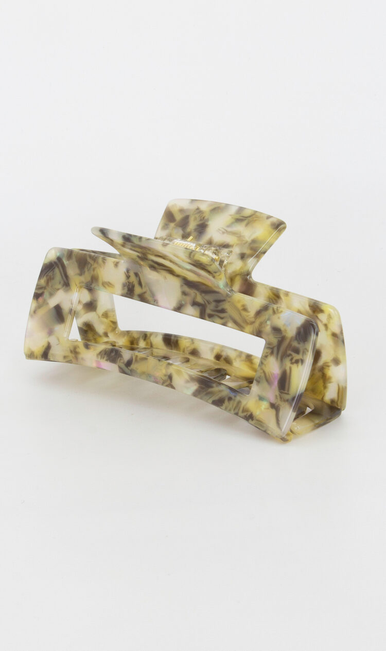 Sage chunky square hair claw
