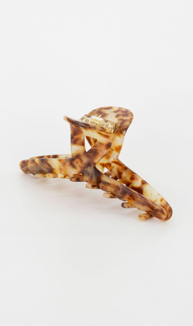 Tortoiseshell angular hair claw