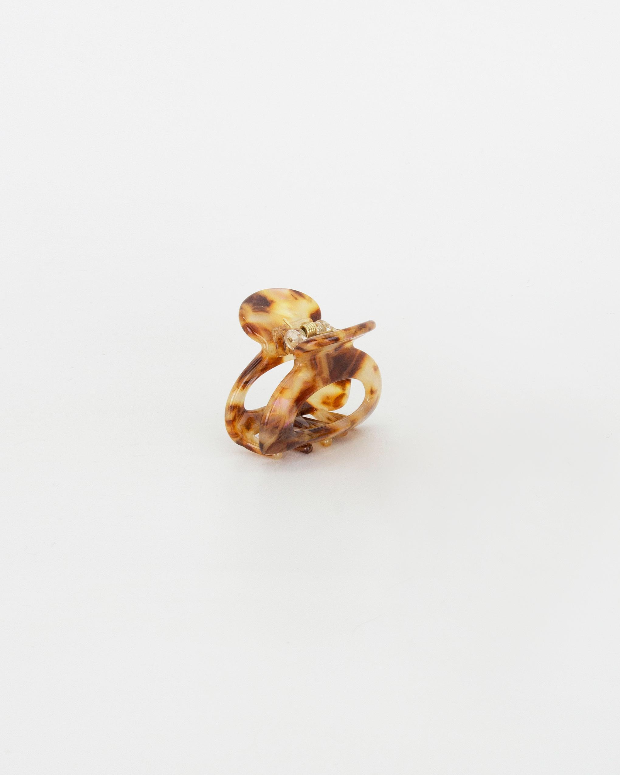 Emin + Paul tortoiseshell mini cut out hair claw.