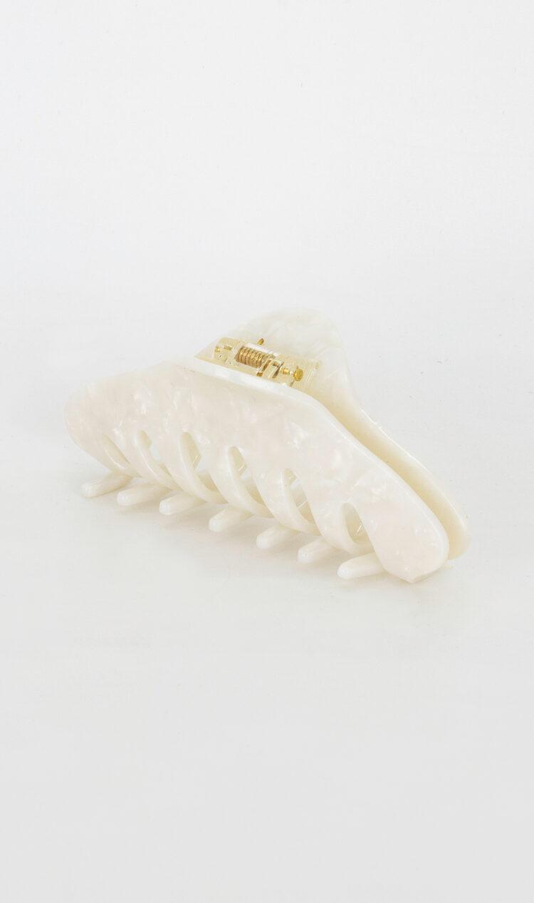 White-opal twist hair claw