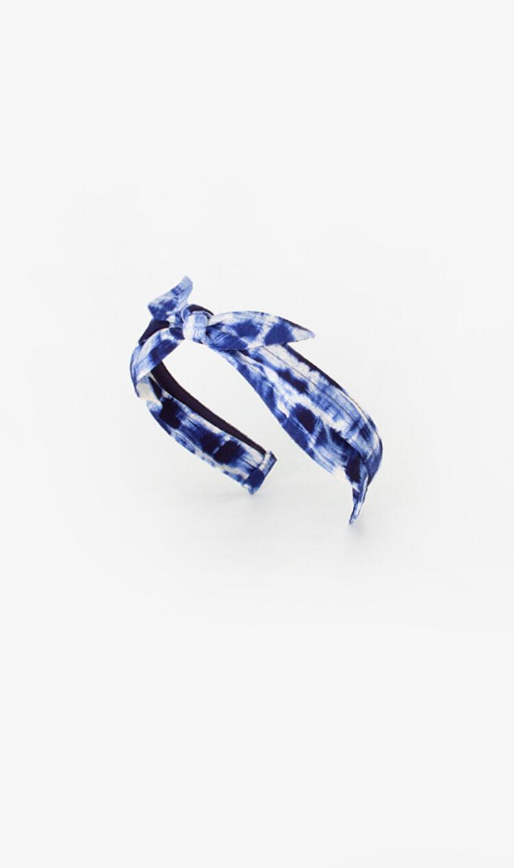 Navy abstract bunny knot headband