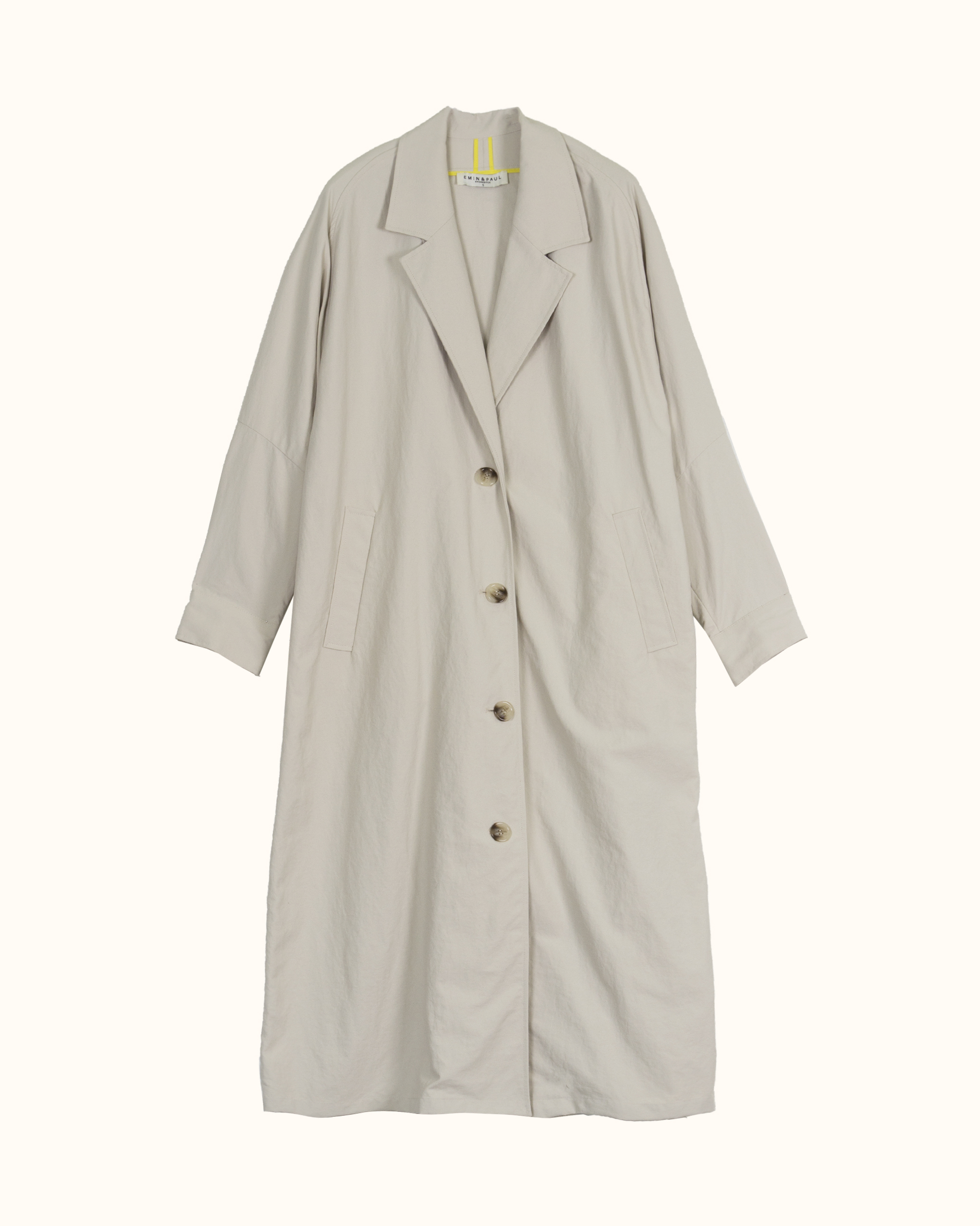 A off-white oversized coat.
