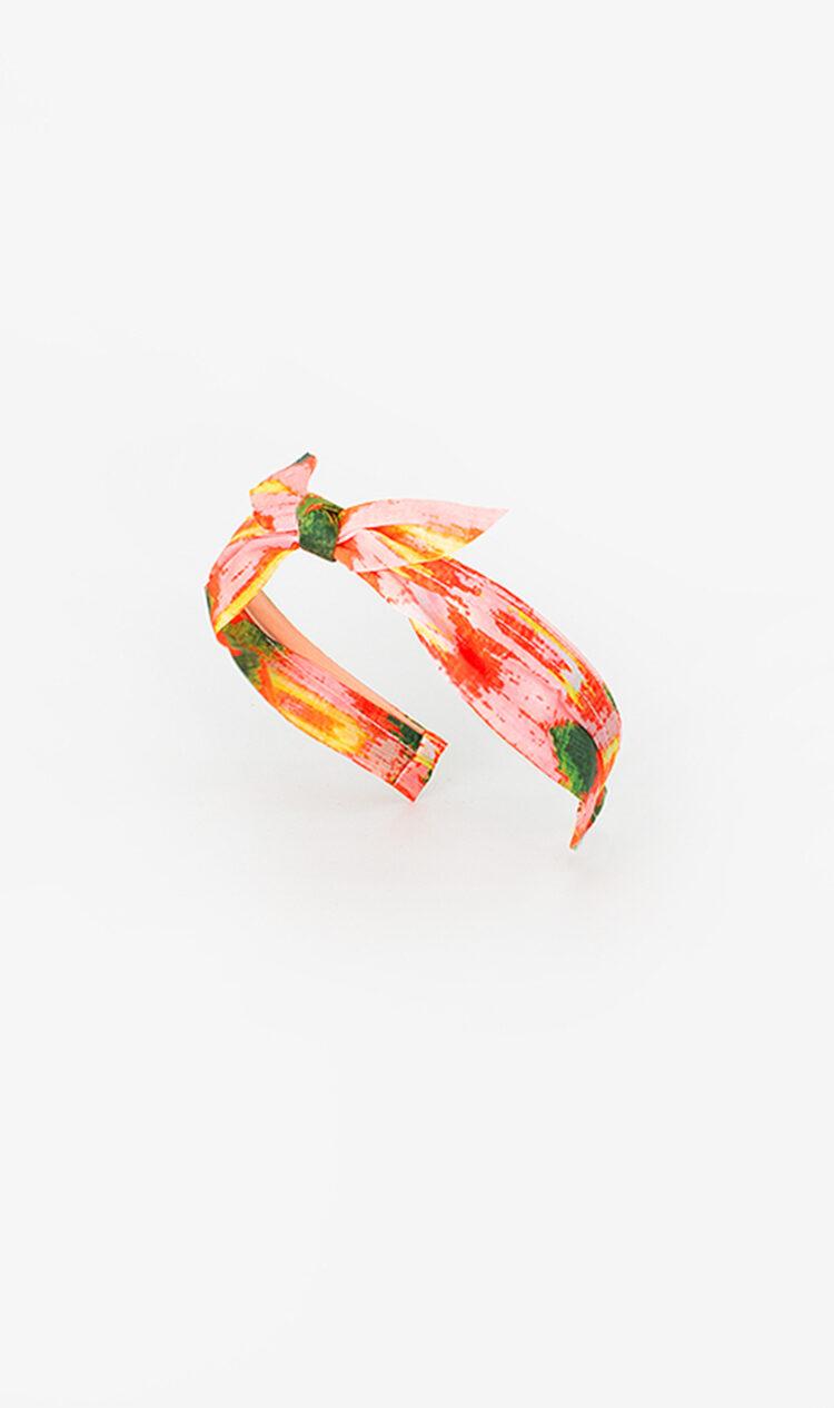 Pink abstract bunny knot headband