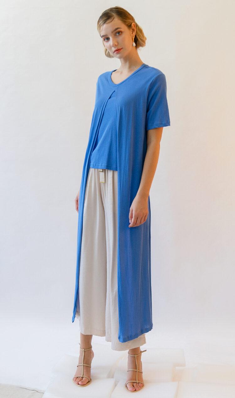 Blue layered t-shirt dress