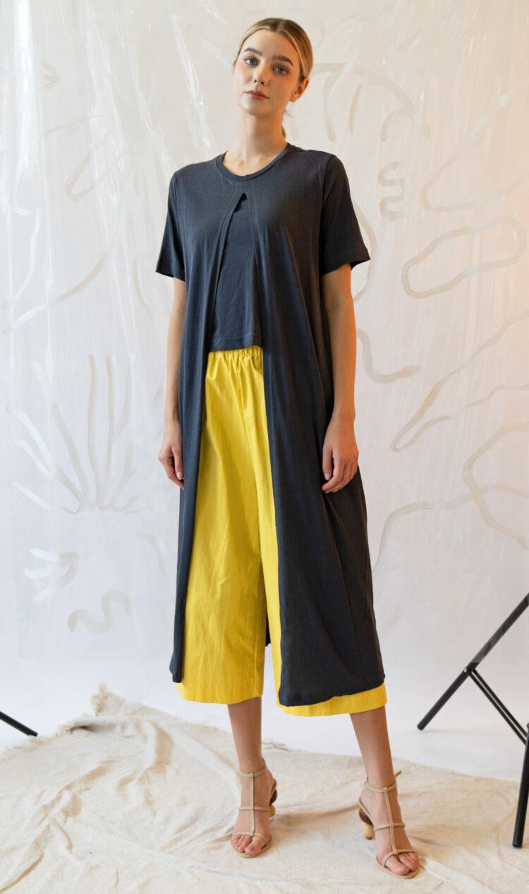 Charcoal layered t-shirt dress