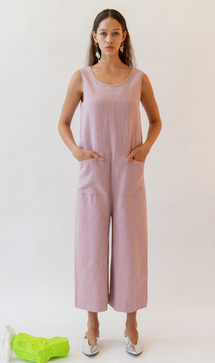 Violet relaxed linen jumpsuit