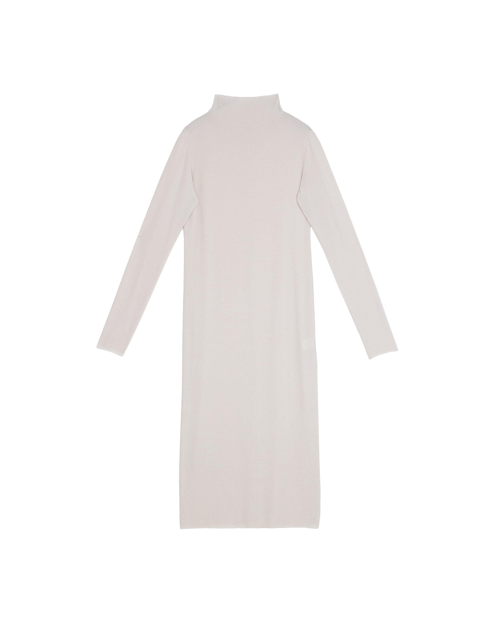 EMIN + PAUL cream second skin jersey dress.
