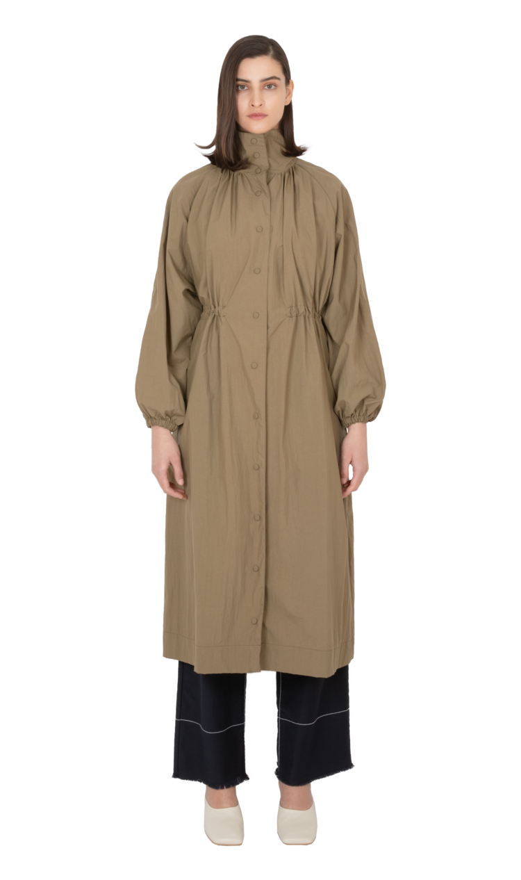 Khaki adjustable waist coat