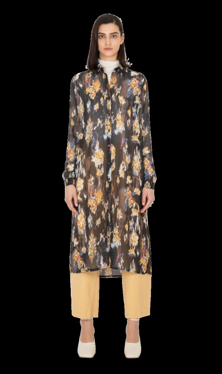 Multi printed shirt dress