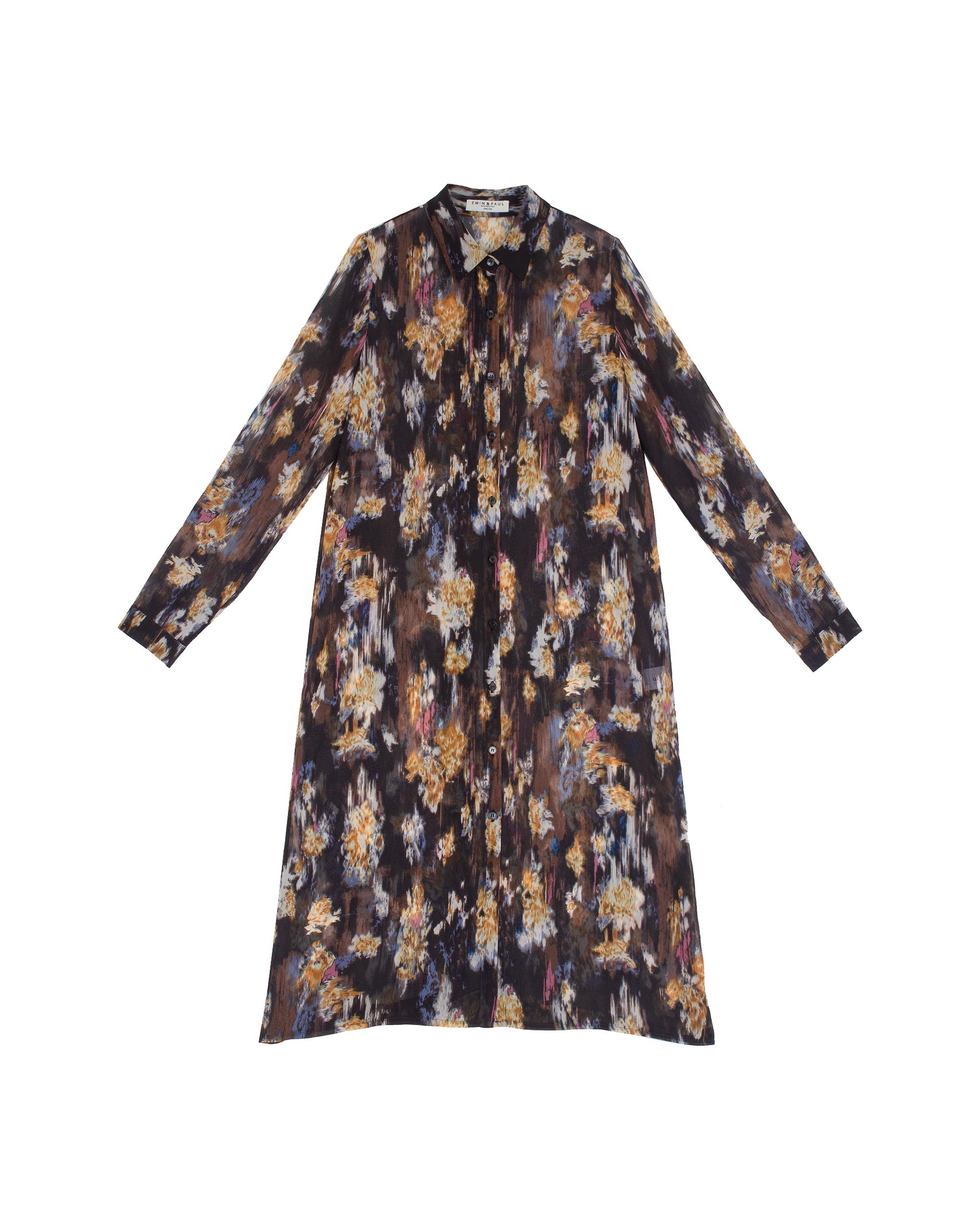 EMIN + PAUL multi printed shirt dress.