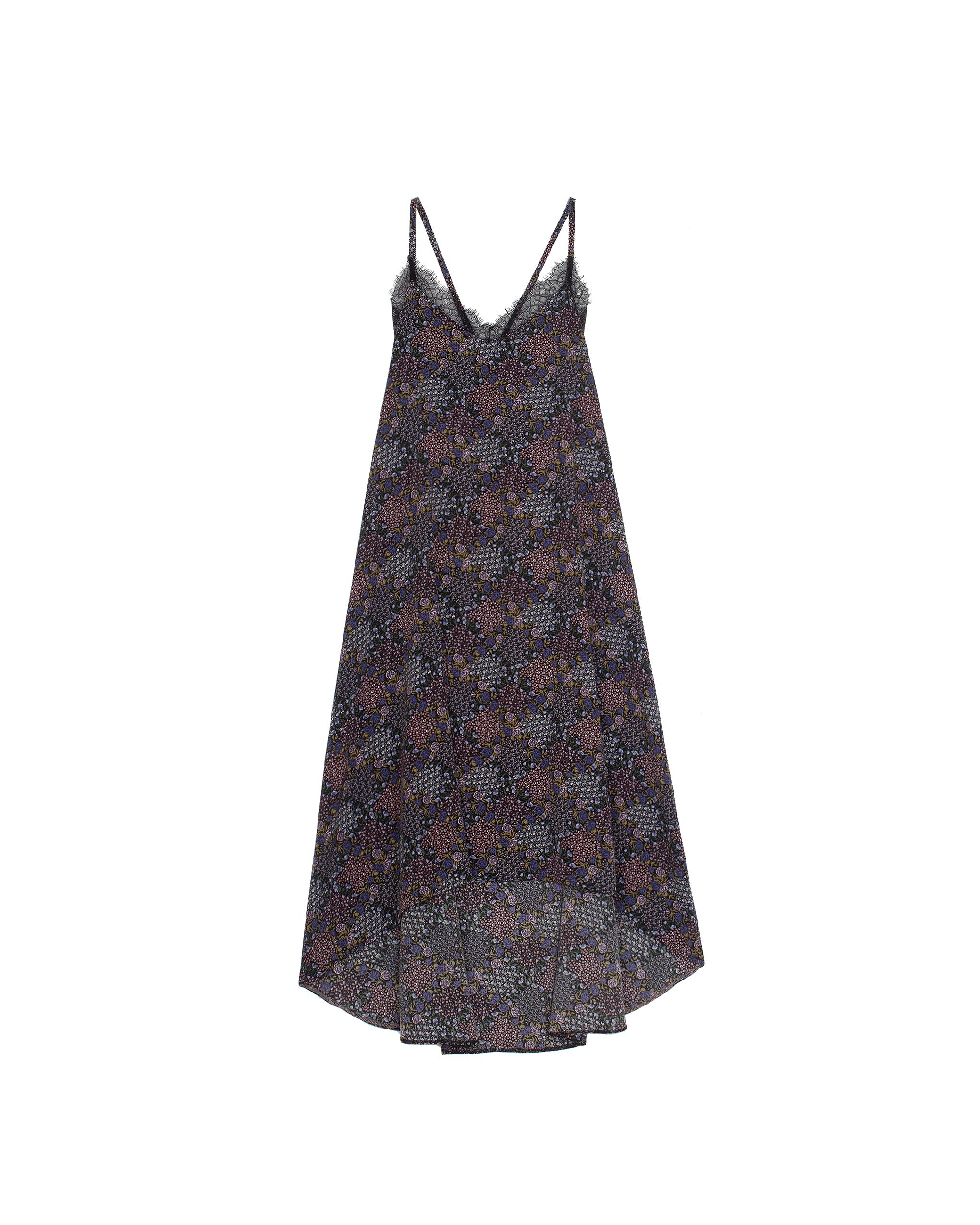 Model wearing EMIN + PAUL multi strappy dress.