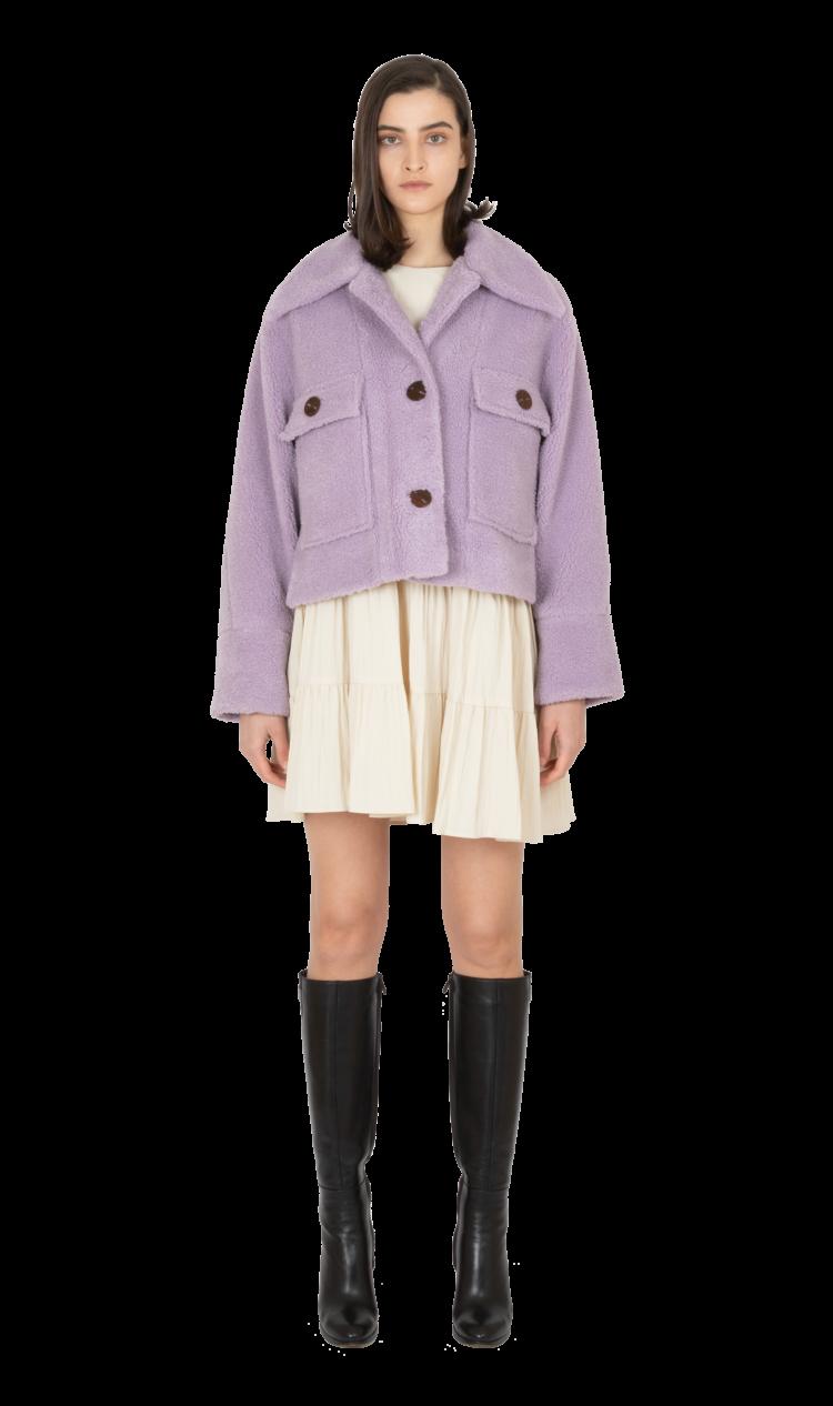 Violet faux shearling jacket