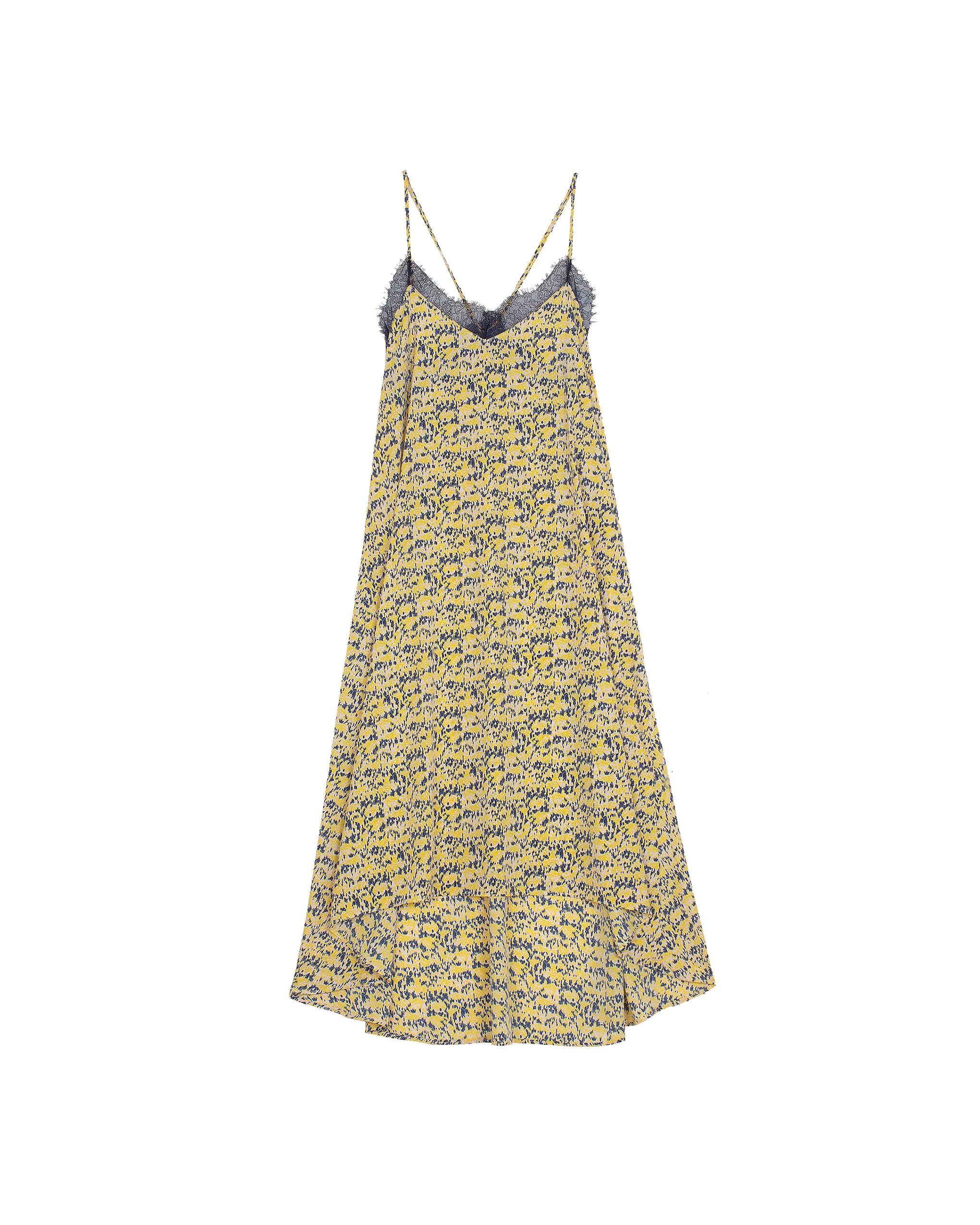 EMIN + PAUL yellow print strappy dress.