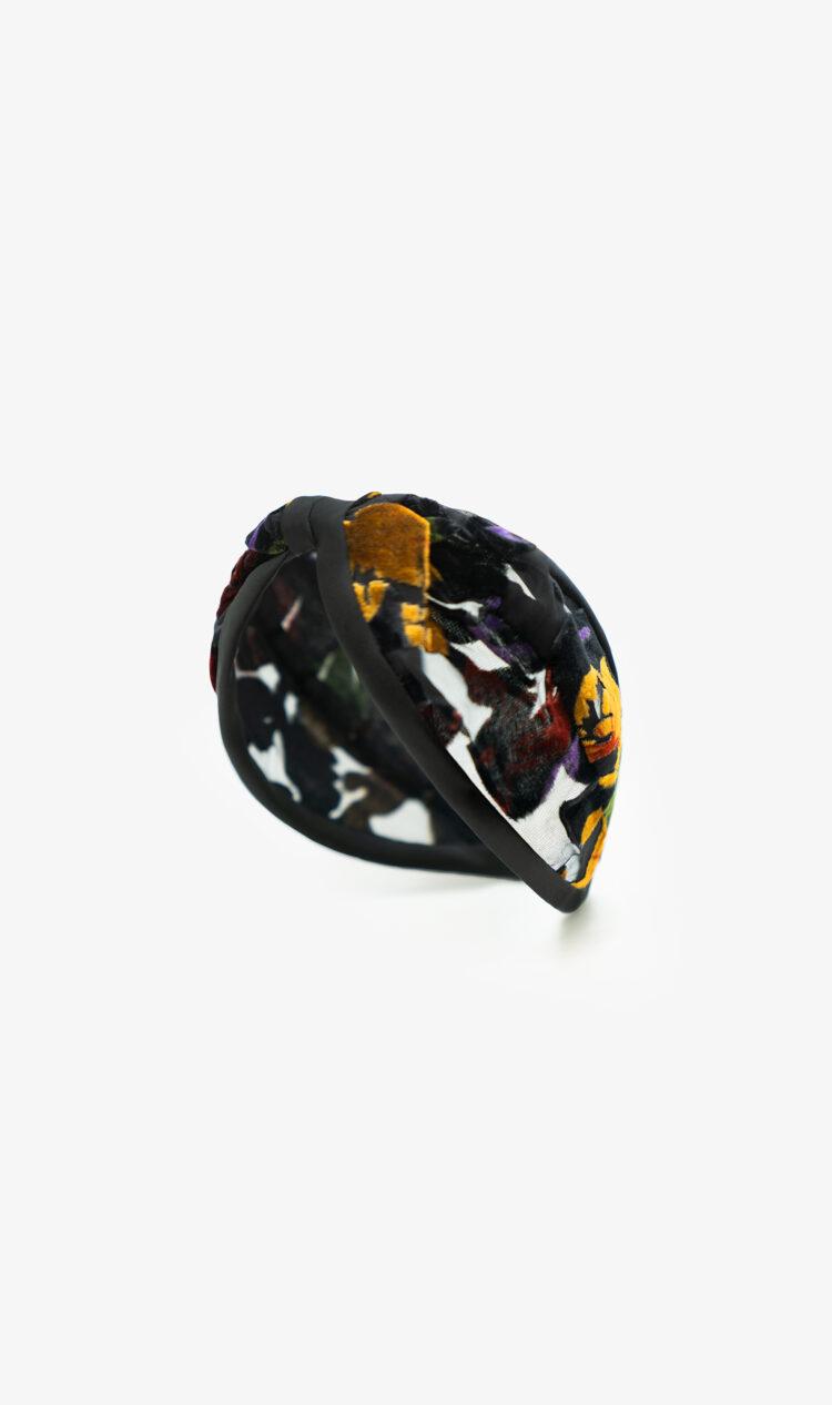 Autumn floral devore headband
