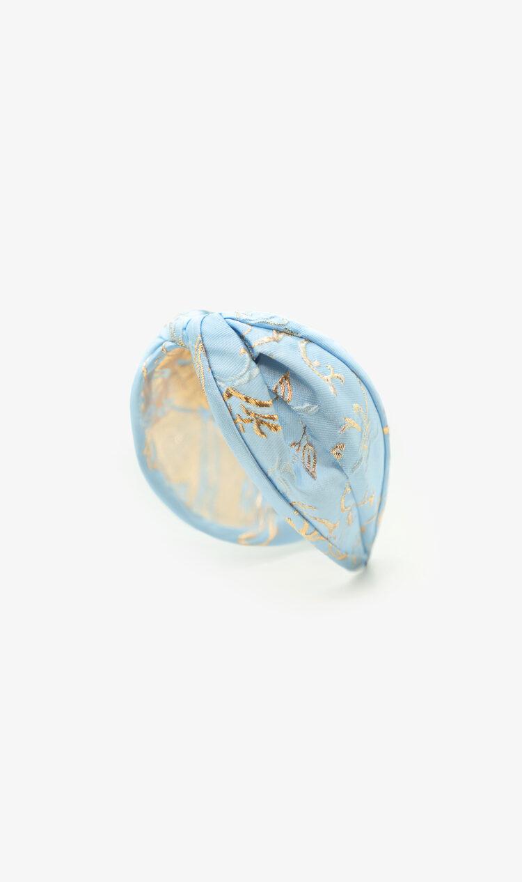 Baby blue baroque headband