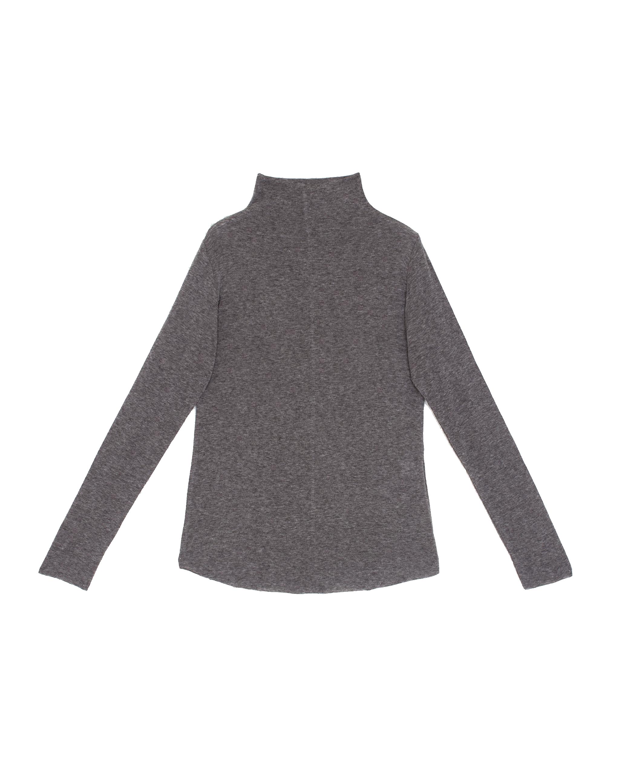 EMIN + PAUL charcoal second skin wool blouse.