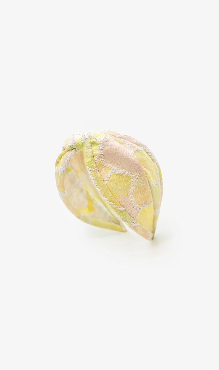 Citrus embroidered headband