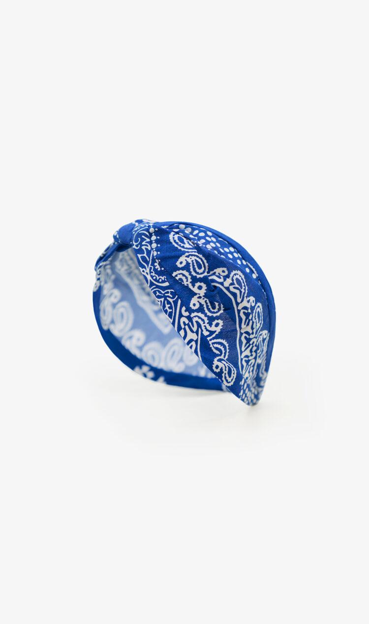 Cobalt paisley headband