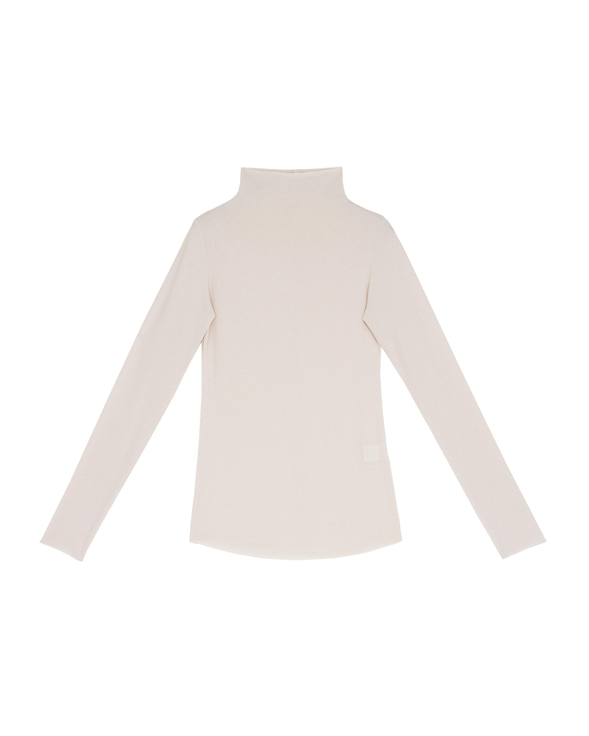 EMIN + PAUL cream second skin jersey blouse.