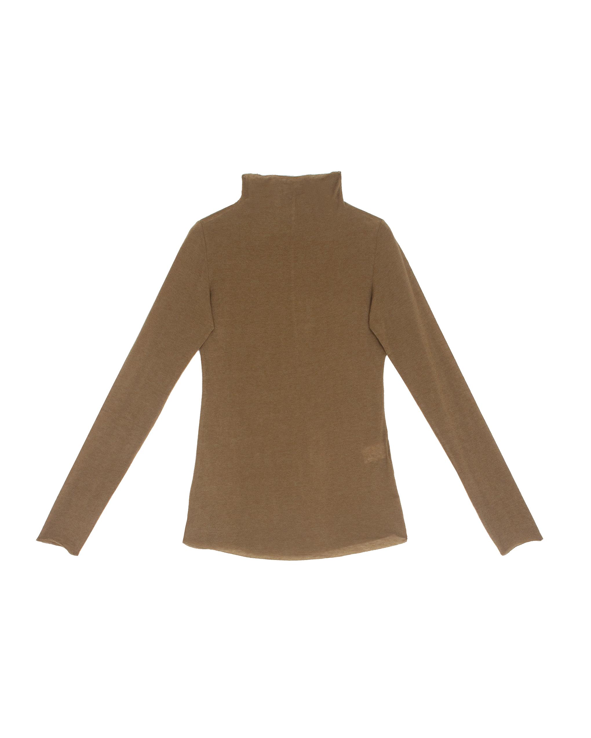EMIN + PAUL khaki second skin wool blouse.