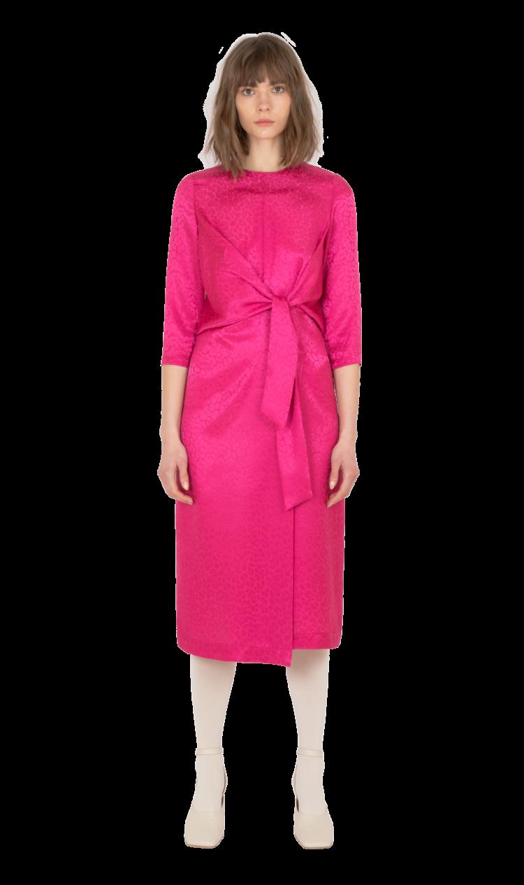 Magenta tie-front dress